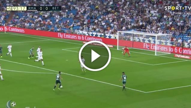 Sanabria strzela bramkę Realowi Madryt! [VIDEO]