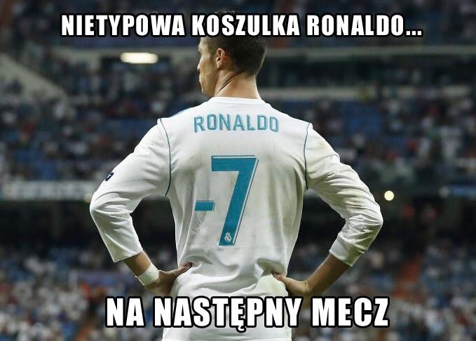 Nietypowa koszulka Ronaldo na następny mecz... xD