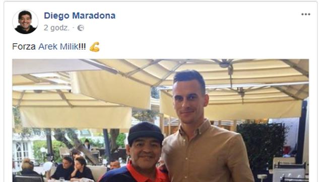 Diego Maradona wpiera Milika!