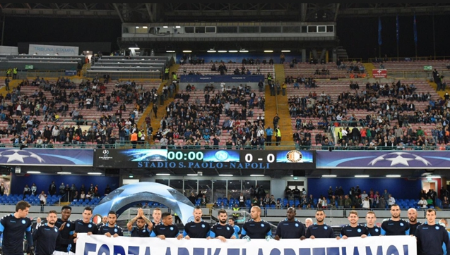 Transparent piłkarzy Napoli dla Arka Milika!