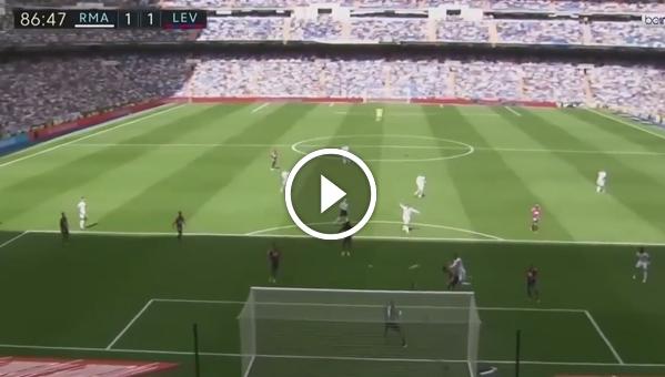 Real Madryt 1:1 Levante (skrót meczu)