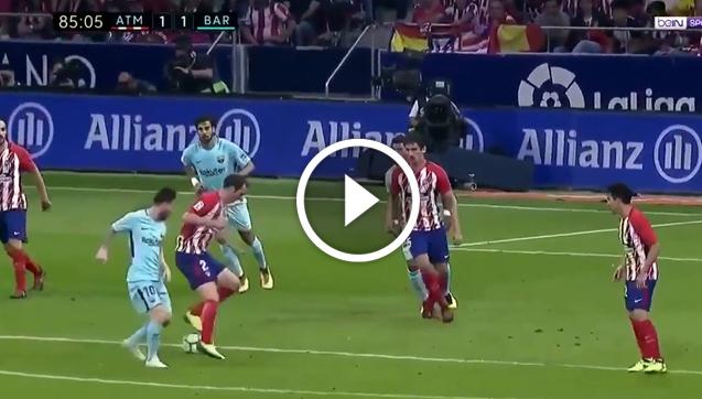 Godin mistrzowsko załatwił Leo Messiego! [VIDEO]