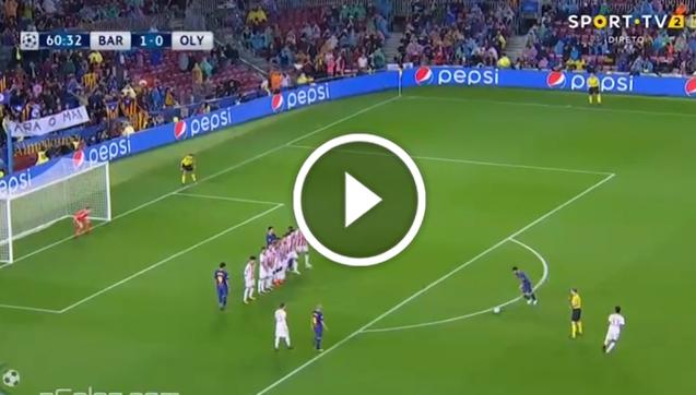 Messi ładuje gola z rzutu wolnego! [VIDEO]