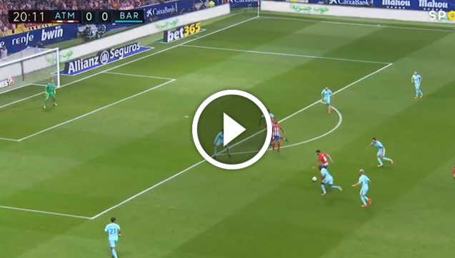 Fenomenalna bramka Saula na 1:0 z Barceloną! [VIDEO]