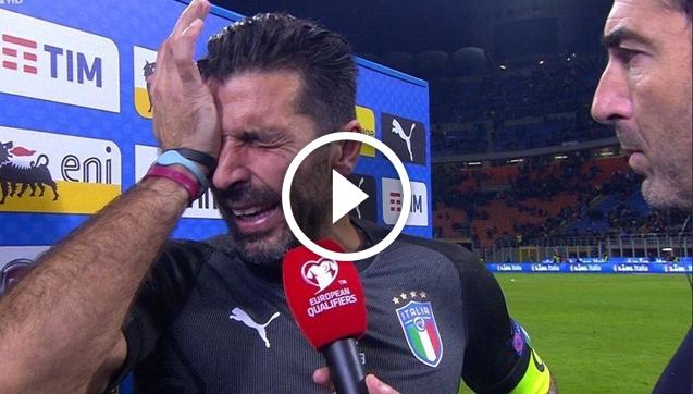 Buffon ze łzami w oczach: To był mój.... [VIDEO]