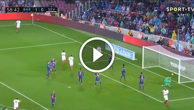 Pizarro strzela gola z FC Barceloną! 1-1! [VIDEO]