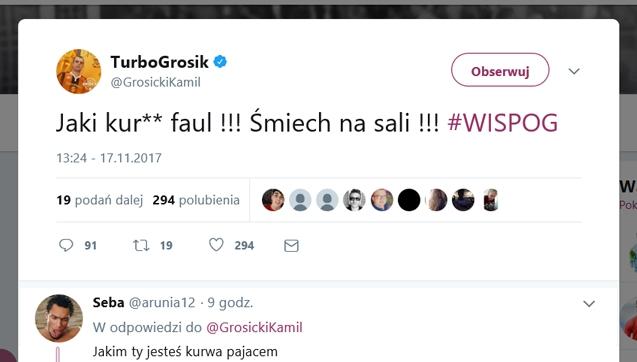 Kamil Grosicki ostro zjechany na Twitterze!