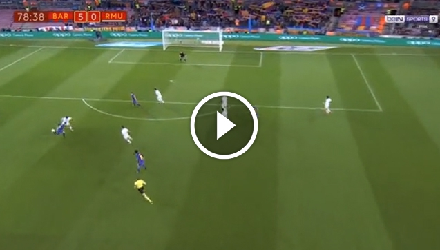 Kapitalne zagranie piętą Denisa Suareza i gol Arnaiza! 5-0! [VIDEO]