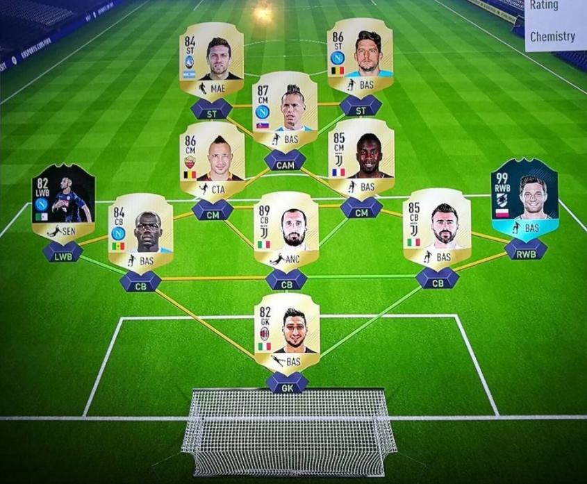 Tak wygląda skład Bereszyńskiego w FIFA 18!