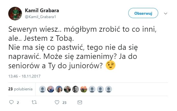 Kamil Grabara znowu ciśnie Kiełpina! xD