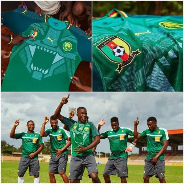 Nietypowa koszulka reprezentacji Kamerunu