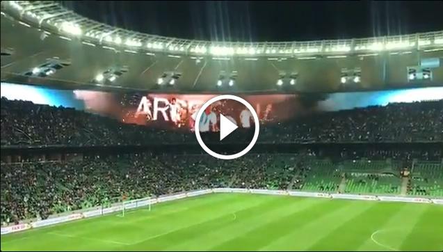 Mega efekt na stadionie podczas meczu Argentyna - Nigeria!