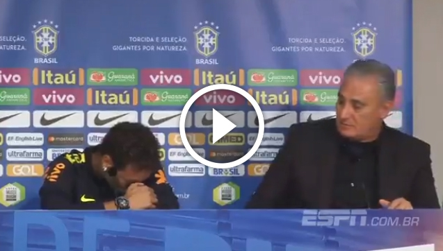 Neymar rozpłakał się na konferencji prasowej! [VIDEO]