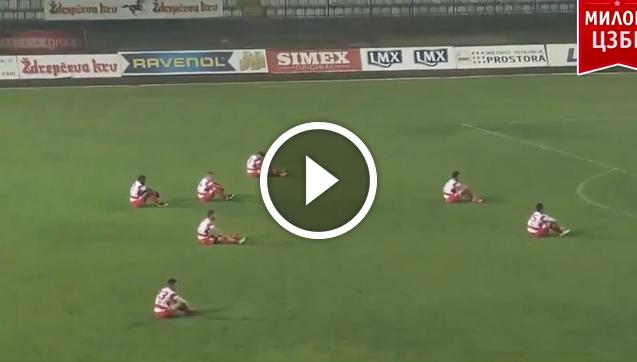 Protest piłkarzy w trakcie meczu! [VIDEO]