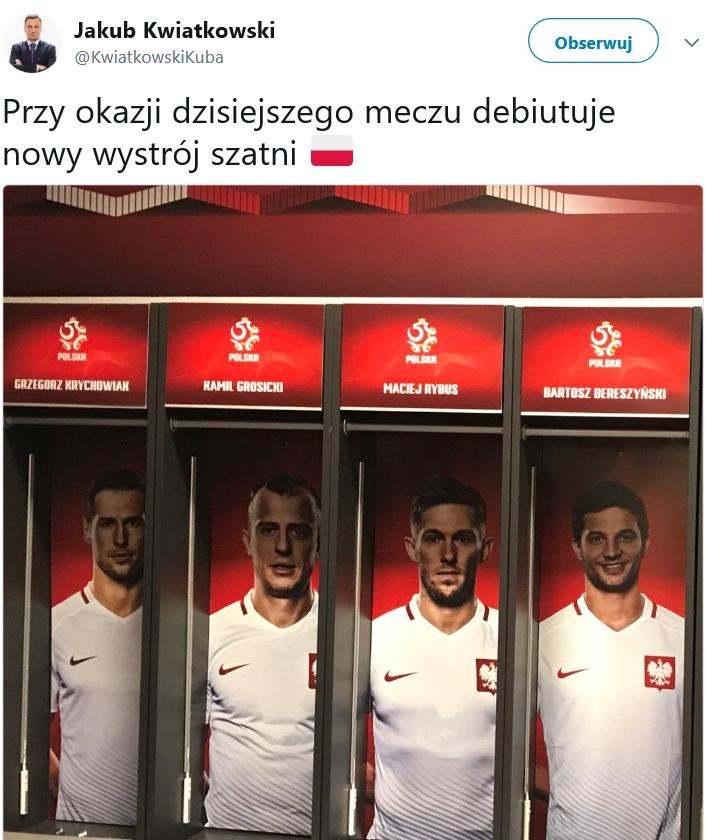Nowy wygląd szatni reprezentacji Polski!