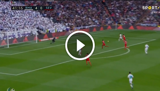 NOKAUT! Hakimi strzela na 5-0 z Sevillą! [VIDEO]