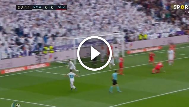 Nacho ładuje gola w 3 minucie  z Sevillą! [VIDEO]
