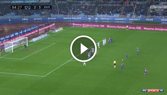 Kapitalny gol Messiego z rzutu wolnego! [VIDEO]