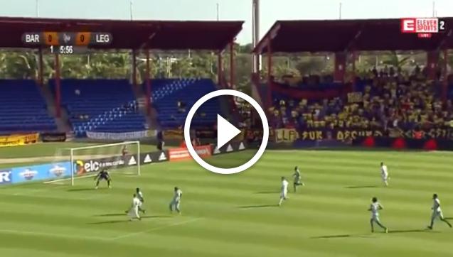Niezgoda strzela gola z Barceloną SC! [VIDEO]