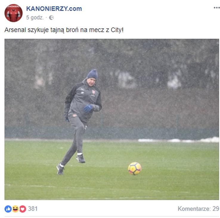 Tajna broń Arsenalu na mecz z Manchesterem City... :D