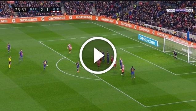 Sprytny gol Messiego z rzutu wolnego!