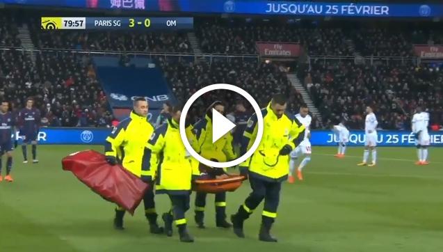 Neymar opuścił boisko na noszach  [VIDEO]