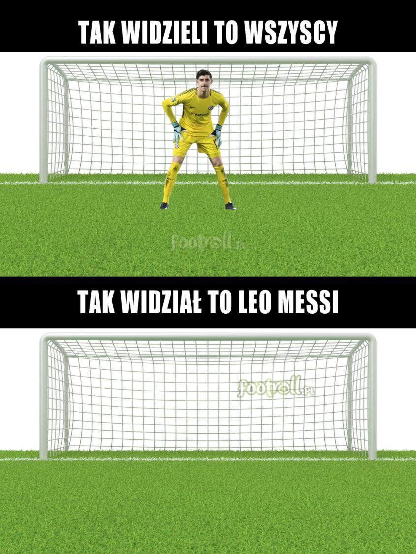 Leo Messi trochę inaczej widział bramkę Chelsea... :D
