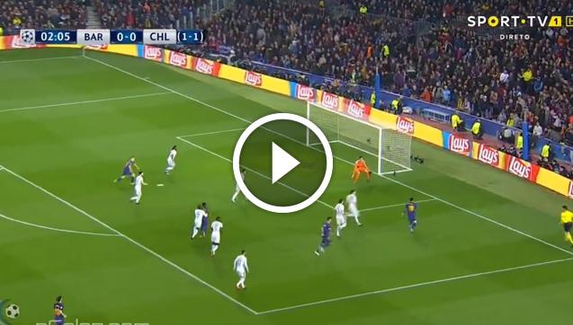 Messi strzela gola w 3 minucie z Chelsea! 1-0 [VIDEO]