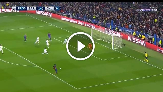 Dembele ładuje GOLA z Chelsea! 2-0 [VIDEO]