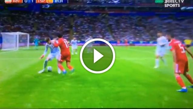 Tak piłkarz Iranu załatwił Pique... xD [VIDEO]