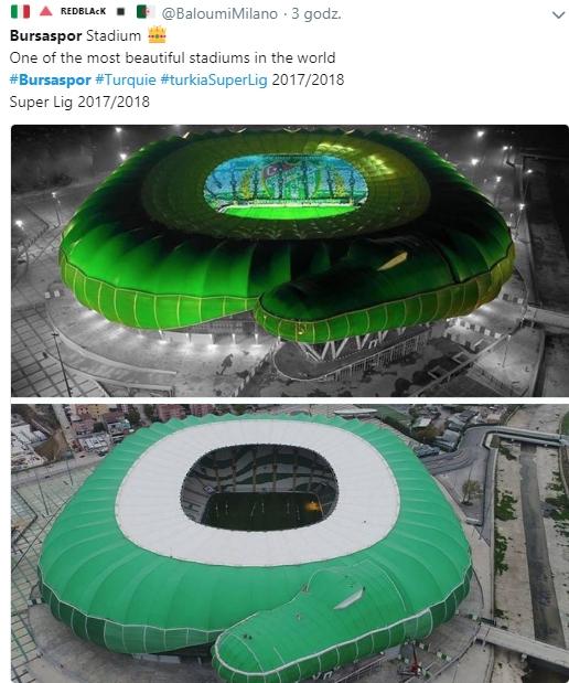 Nietypowy wygląd stadionu Bursasporu... WOW!