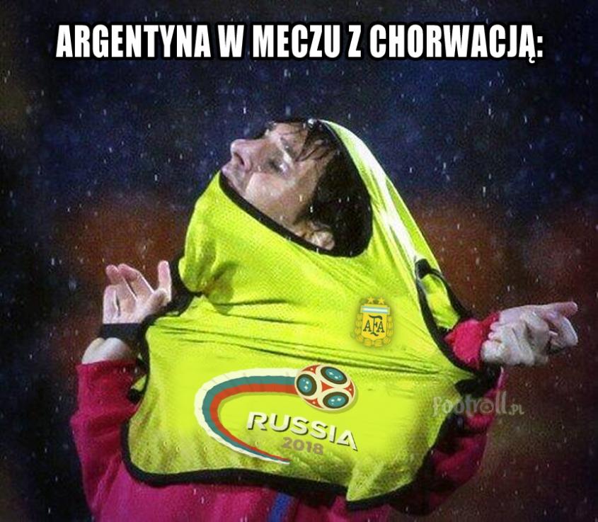Tak wyglądała gra Argentyny z Chorwacją... xD