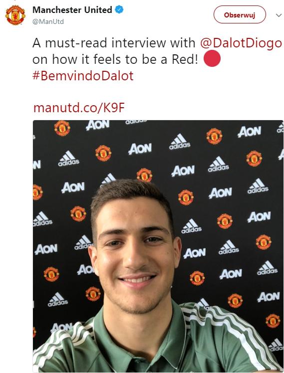 OFICJALNIE! Diogo Dalot piłkarzem Manchesteru United!