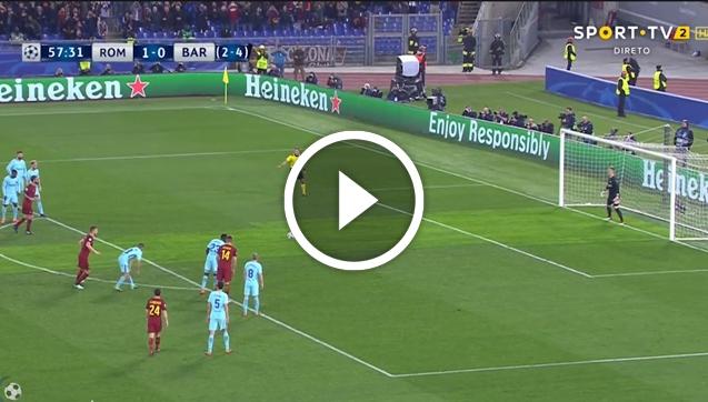 De Rossi strzela gola na 2-0 z FC Barceloną! [VIDEO]