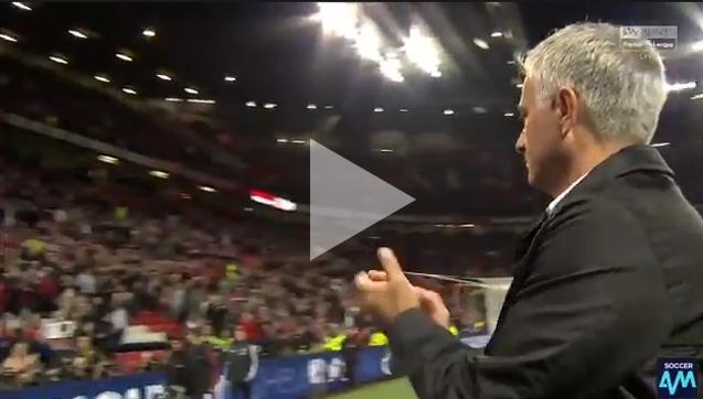 Zachowanie Mourinho i kibiców Manchesteru United po meczu [VIDEO]
