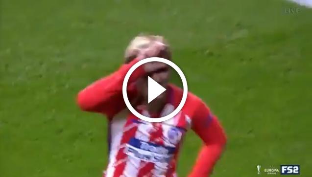 Nietypowa cieszynka Griezmanna po golu w LE! [VIDEO]