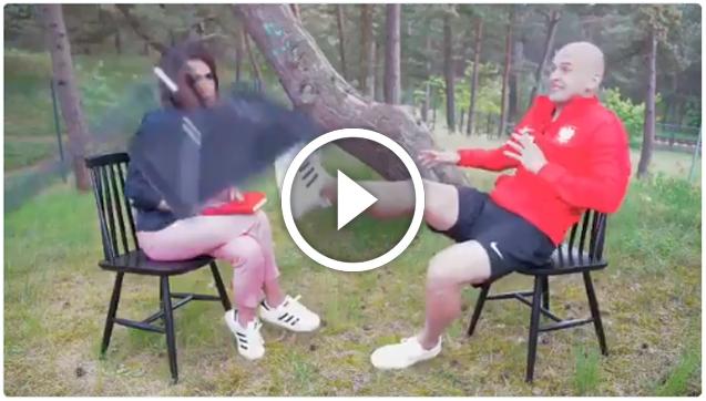 Interwencja Pazdana podczas wywiadu! xD [VIDEO]