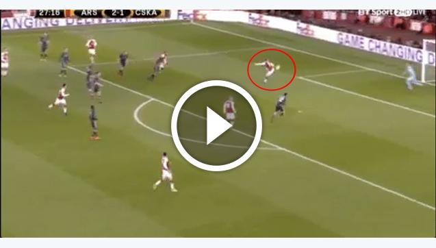 Genialny gol Ramseya z piętki w LE! [VIDEO]