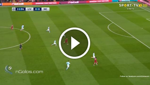 Salah strzela gola z Man City! 1-0 [VIDEO]