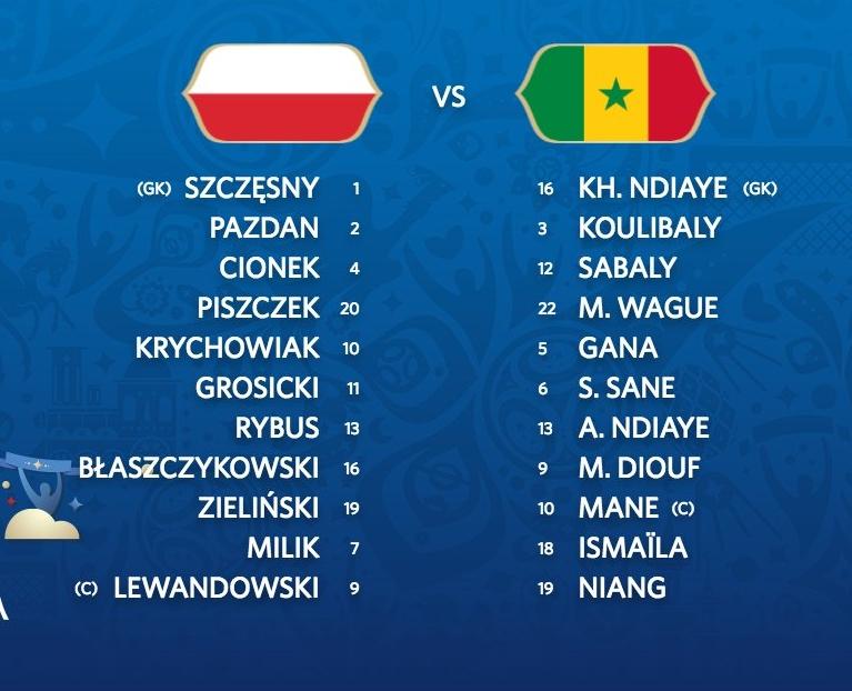 Polska - Senegal   ZNAMY SKŁADY!
