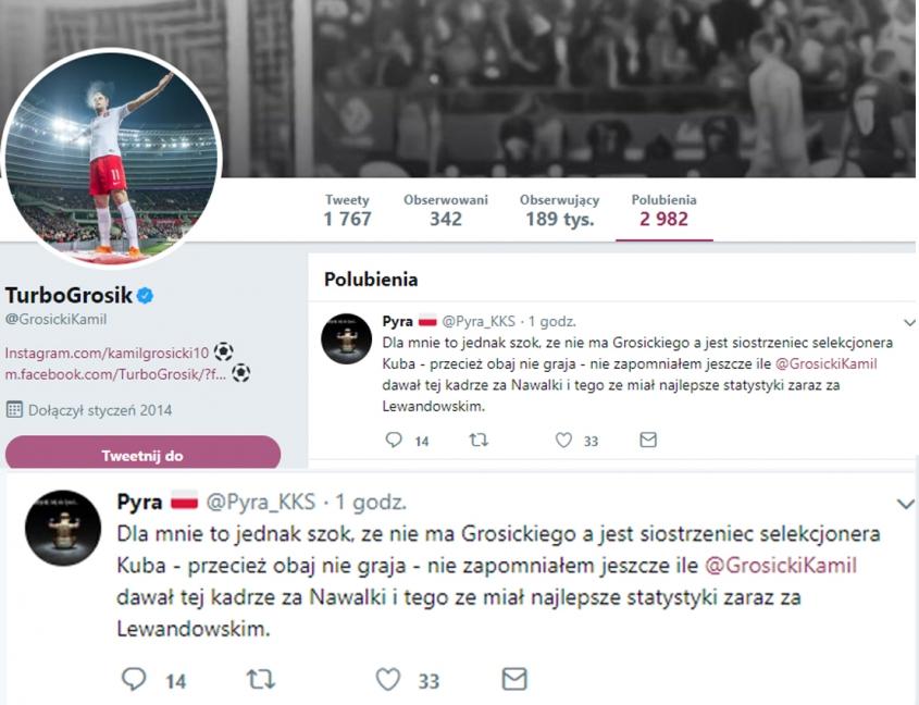 Ten wpis polubił Kamil Grosicki na Twitterze... :D