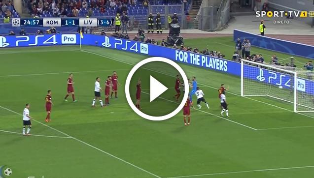Wijnaldum strzela gola z AS Romą! 1-2 [VIDEO]