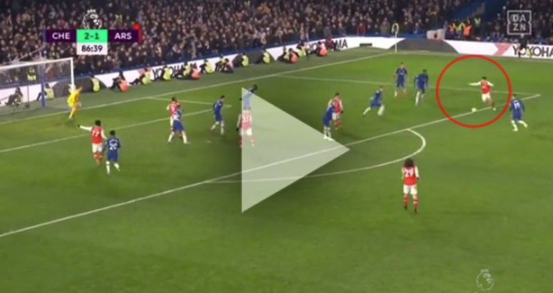 TAK STRZELA Bellerin na 2-2 z Chelsea! [VIDEO]