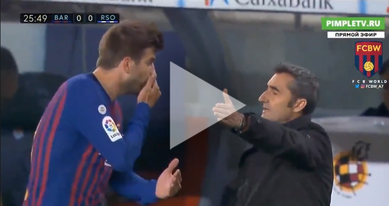 Dyskusja Pique z Valverde!  [VIDEO]