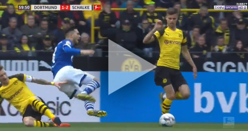 Za to Marco Reus WYLECIAŁ z boiska! [VIDEO]