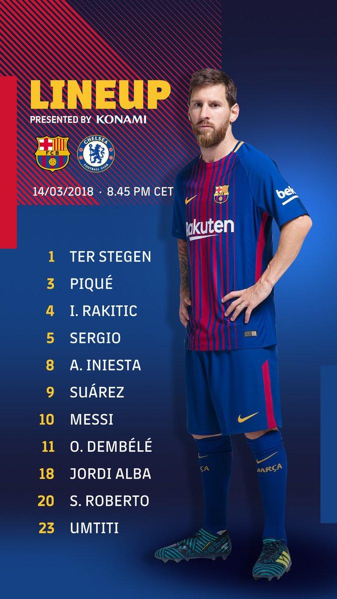 MAMY TO! OFICJALNE składy na mecz Barca vs. Chelsea