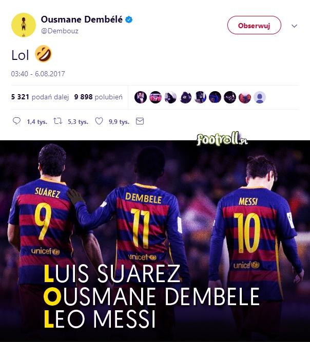 Ousmane Dembele stworzy nowe trio z Messim i Suarezem?